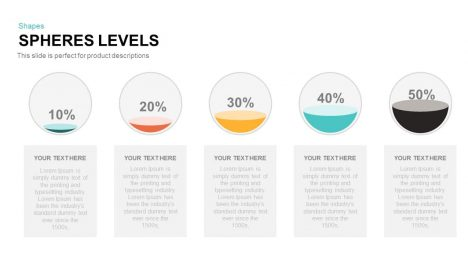 Spheres Levels Powerpoint and Keynote template
