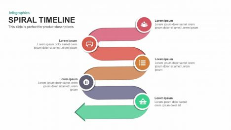 Spiral Timeline Powerpoint and Keynote template