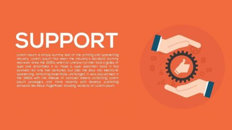 Support Metaphor Powerpoint and Keynote template