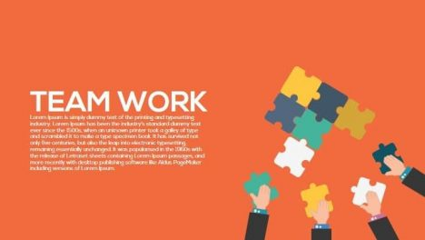 Team Work Metaphor Powerpoint and Keynote Template