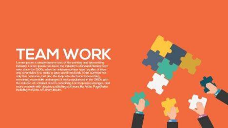Team Work Metaphor Powerpoint and Keynote Template
