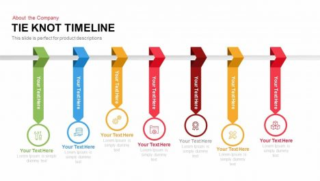 Tie Knot Timeline Powerpoint and Keynote template