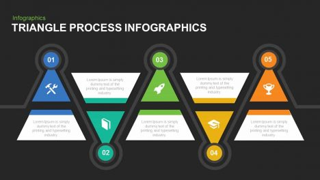 Triangle Process Infographics Powerpoint and Keynote template