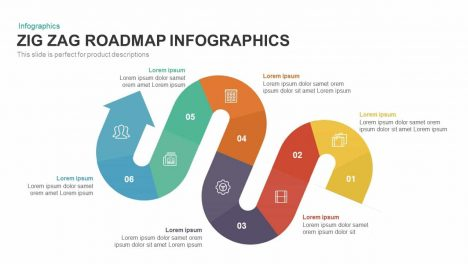 Zig Zag Roadmap PowerPoint Template and Keynote Slide