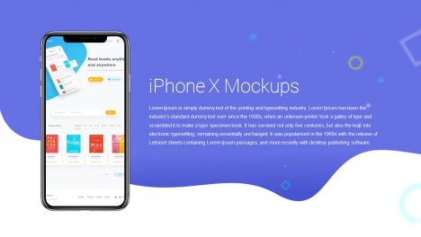 iPhone X Mockups PowerPoint and Keynote template