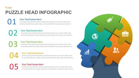 human head puzzle PowerPoint template and keynote