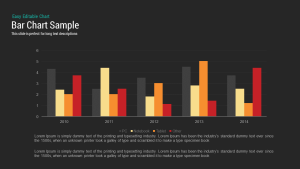 Sample Bar Chart Template for PowerPoint and Keynote Presentation