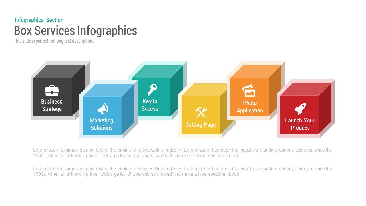 Box Services Infographics PowerPoint Template