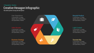 Creative Infographic Hexagon PowerPoint Template and Keynote
