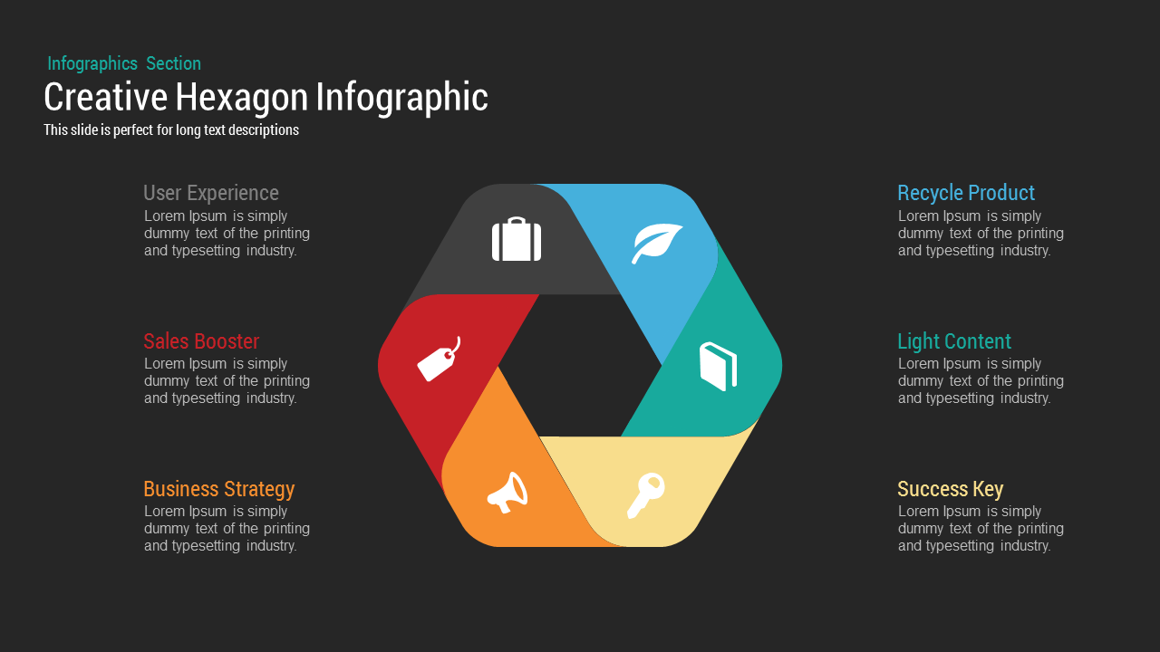 infographic hexagon PowerPoint template