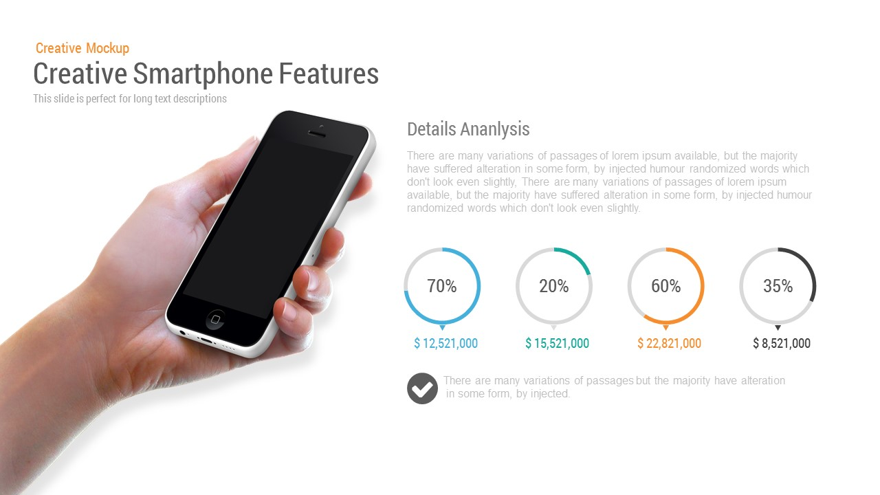 Creative Smartphone Feature Powerpoint and Keynote template