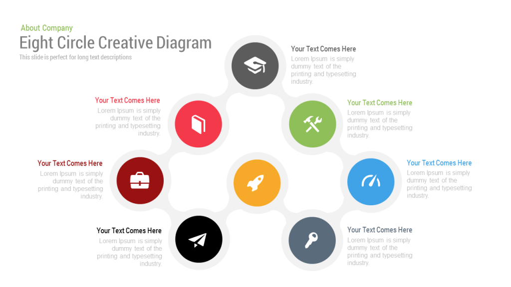 eight circle diagram free powerpoint keynote template