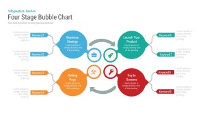 Four Stage Bubble Chart PowerPoint Template and Keynote