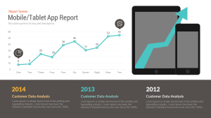 Mobile/Tablet App Report Free PowerPoint and Keynote template