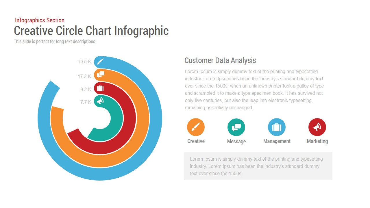 Circle Chart Infographic Powerpoint and Keynote template