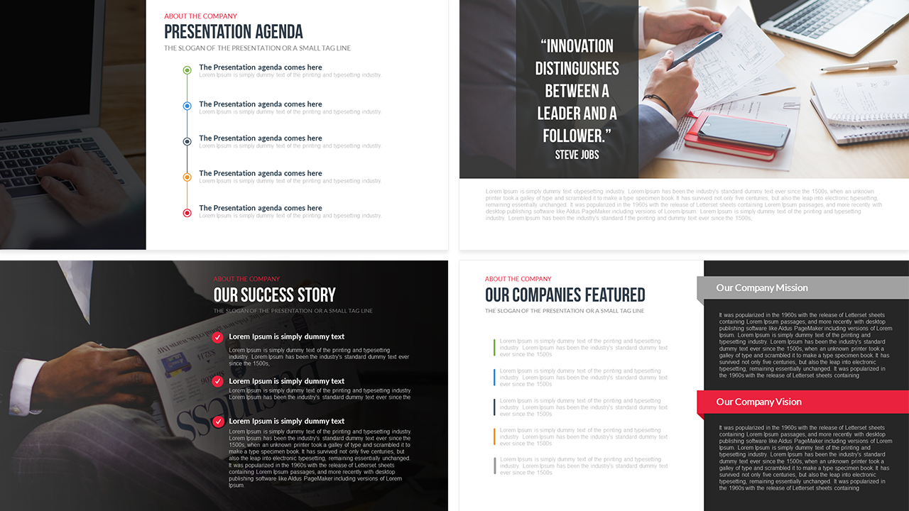 Company Profile PowerPoint Template Free Slidebazaar - Powerpoint flyer templates free