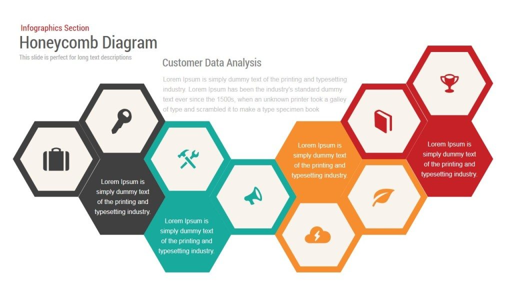 Honeycomb Diagram Infographics Powerpoint And Keynote Template