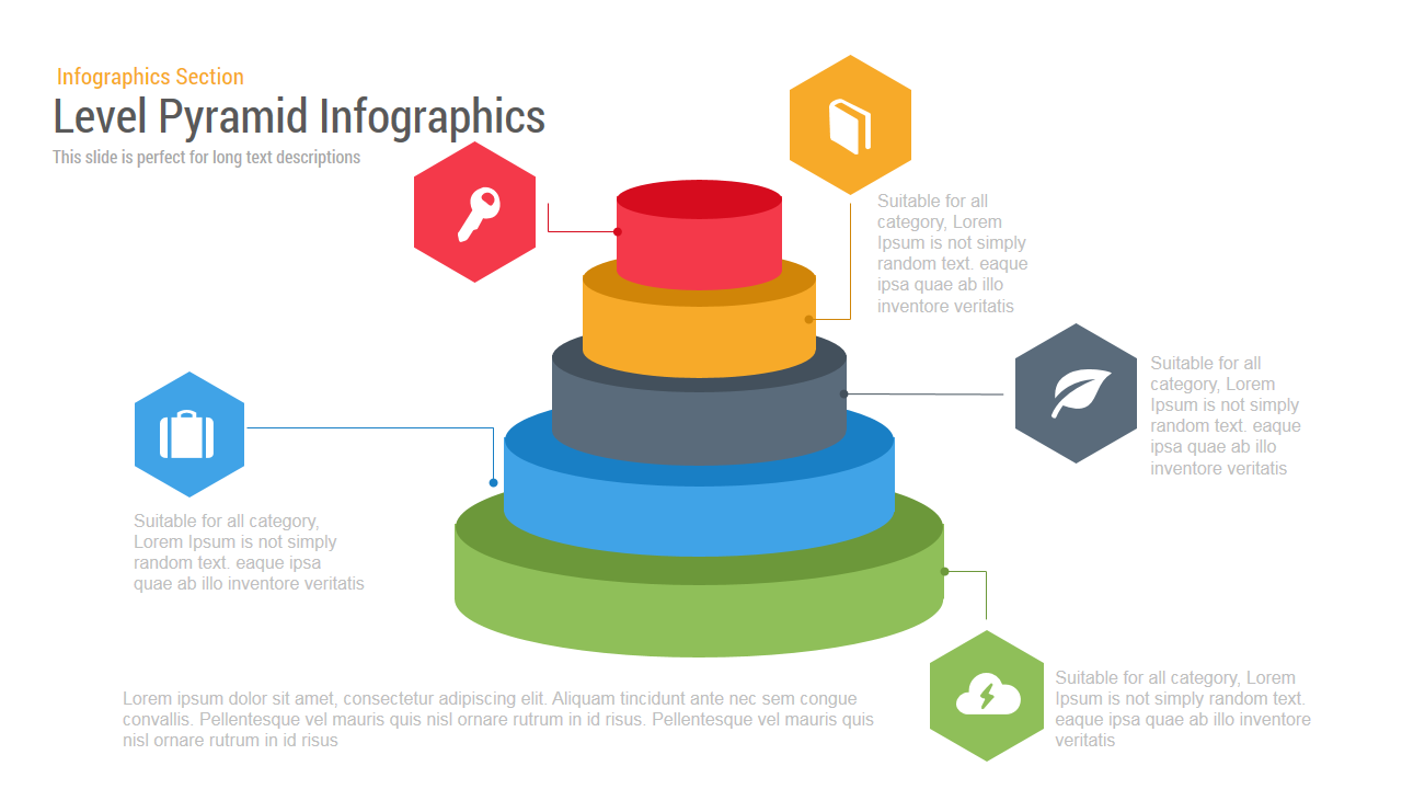 Level Pyramid Infographics Powerpoint and Keynote template