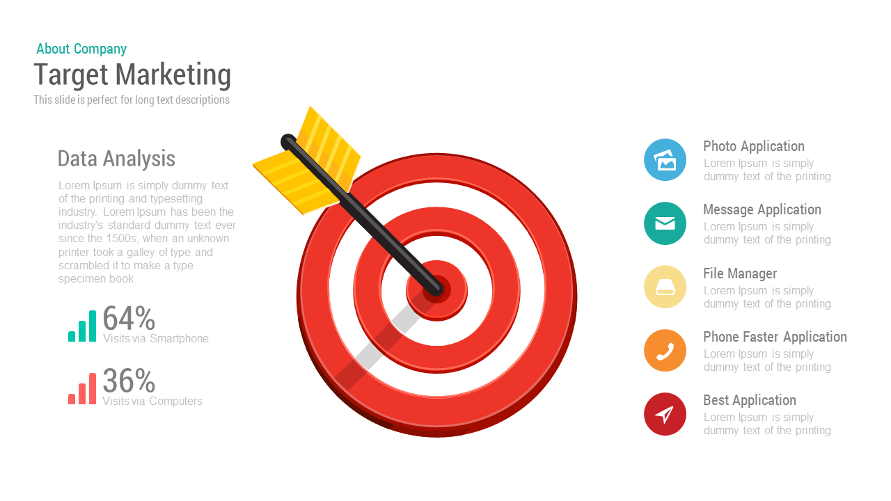 target marketing powerpoint keynote template | slidebazaar, Modern powerpoint