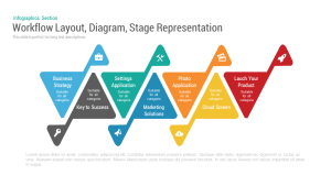 Workflow Layout Diagram Stage PowerPoint Template and Keynote Slide