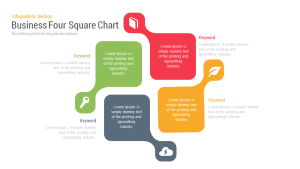 Business Four Square PowerPoint Template and keynote Slide