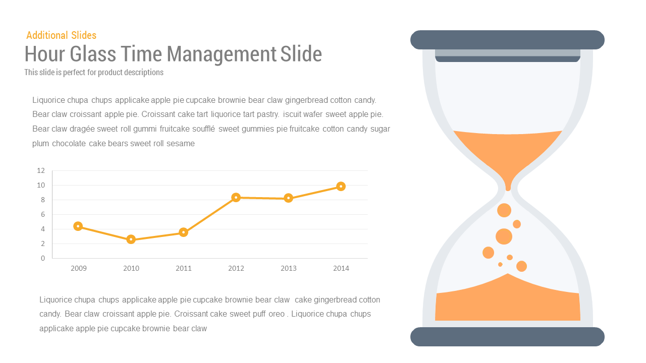 Hour Glass Time Management PowerPoint and keynote