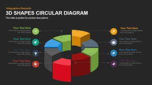 3D Shapes Circular Diagram PowerPoint Template and Keynote Slide