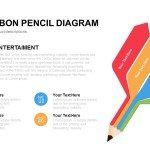 4 Flat Ribbon Pencil Diagram