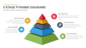 5 Stage Pyramid Diagrams PowerPoint Template and Keynote Slide