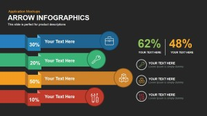 Arrow Infographic Template for Powerpoint and Keynote