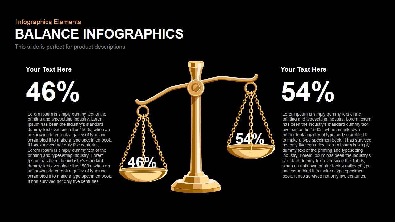 Balance Infographics Powerpoint Keynote template