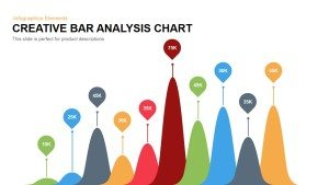 Creative Bar Chart Analysis PowerPoint Template and Keynote