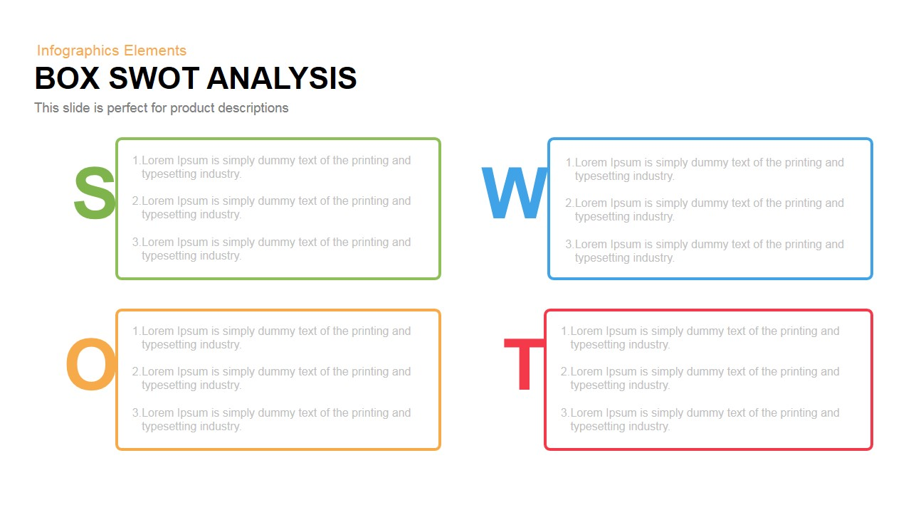 box swot analysis powerpoint and keynote