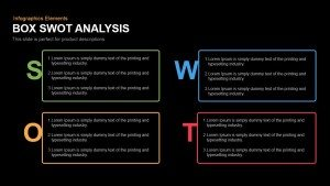 Box SWOT Analysis PowerPoint Template and Keynote Slide