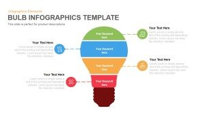 Bulb Infographics Template for Powerpoint and Keynote