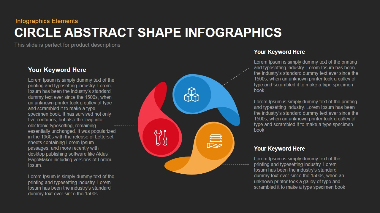 Circle Abstract Shape Infographics Powerpoint Keynote template