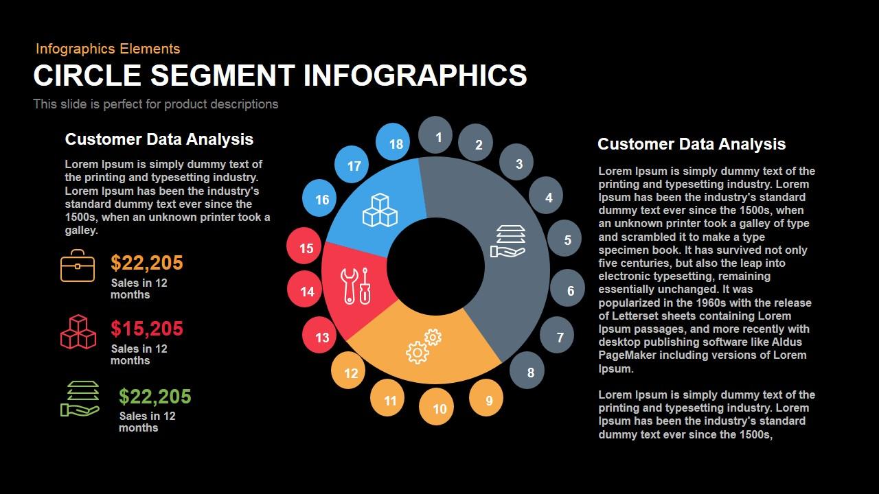 Circle Segment Infographics Powerpoint Keynote