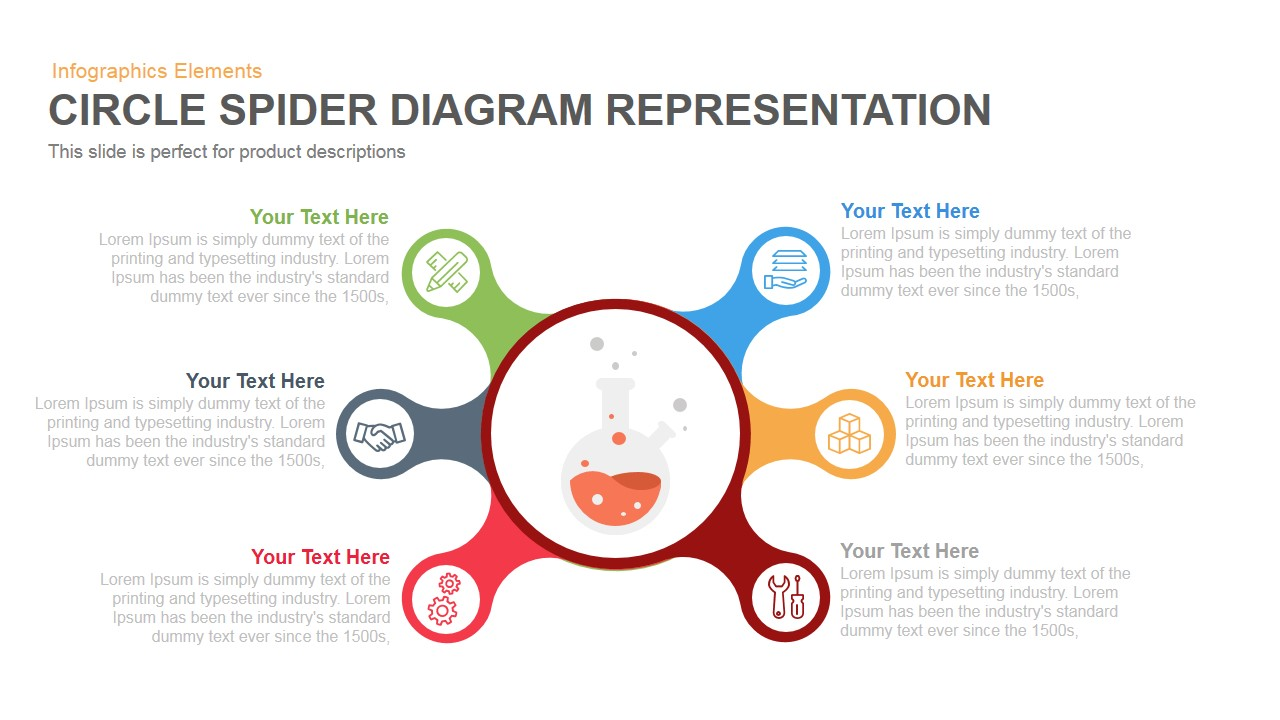 circle spider diagram powerpoint template and keynote slidebazaar