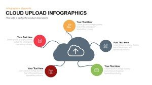 Cloud Upload Infographics PowerPoint and Keynote Template