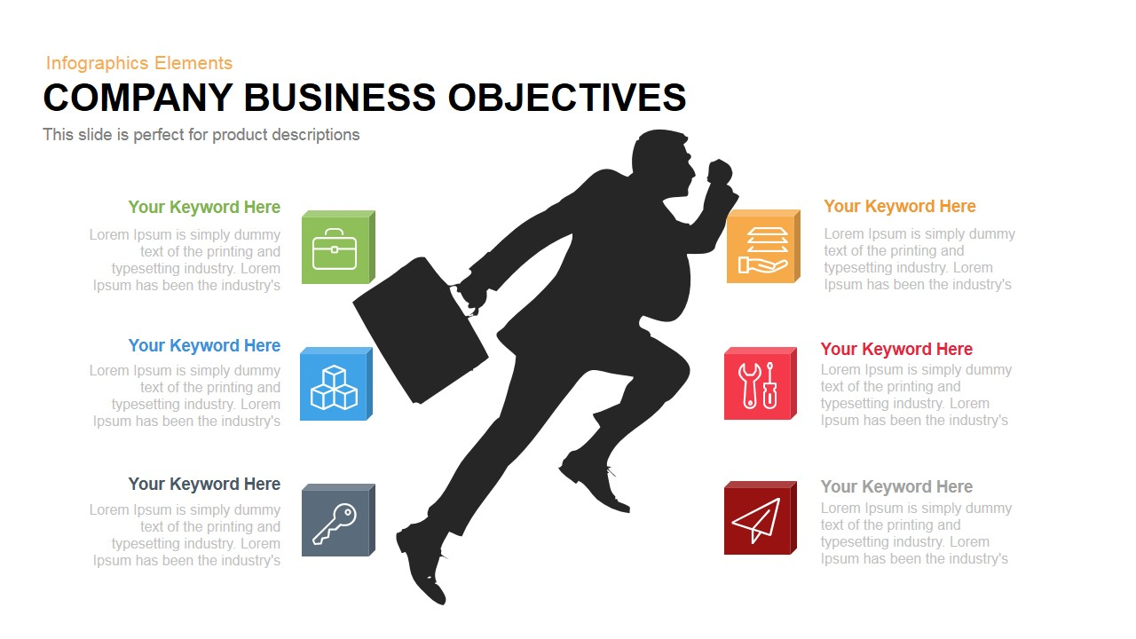 Company business objectives powerpoint keynote flashek Choice Image