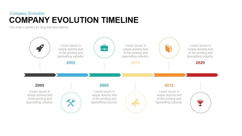 Company Evolution Timeline Powerpoint Keynote Template  Slidebazaar