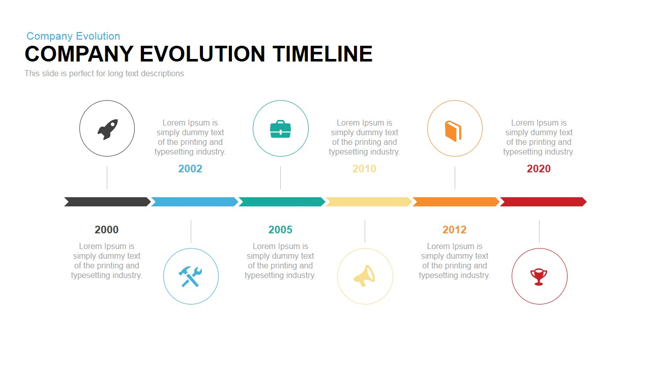 Company Evolution Timeline Powerpoint Keynote Template SlideBazaar - Business timeline template