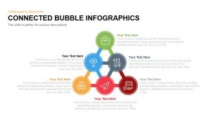 Connected Infographics Bubbles PowerPoint Template and Keynote