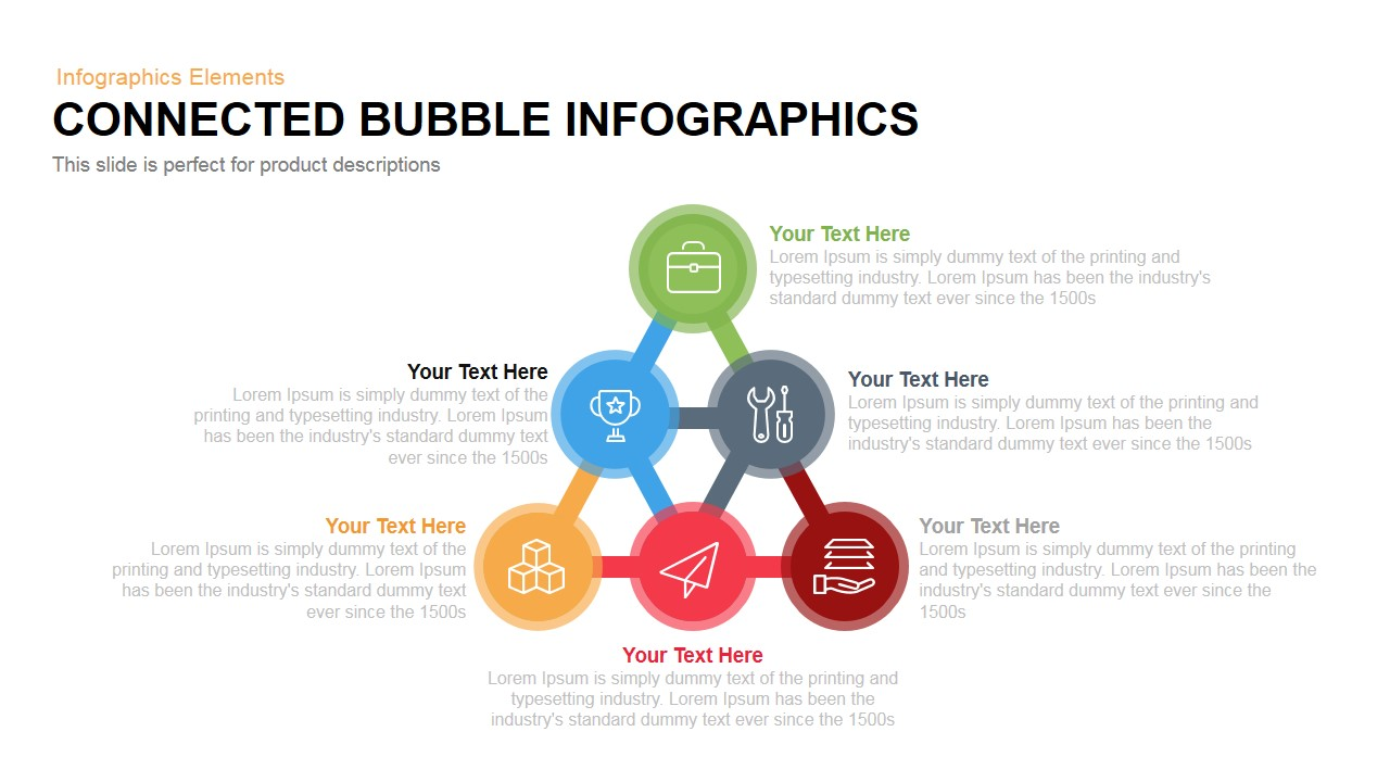 Bubble infographics powerpoint keynote template connected bubble infographics powerpoint keynote template ccuart Choice Image