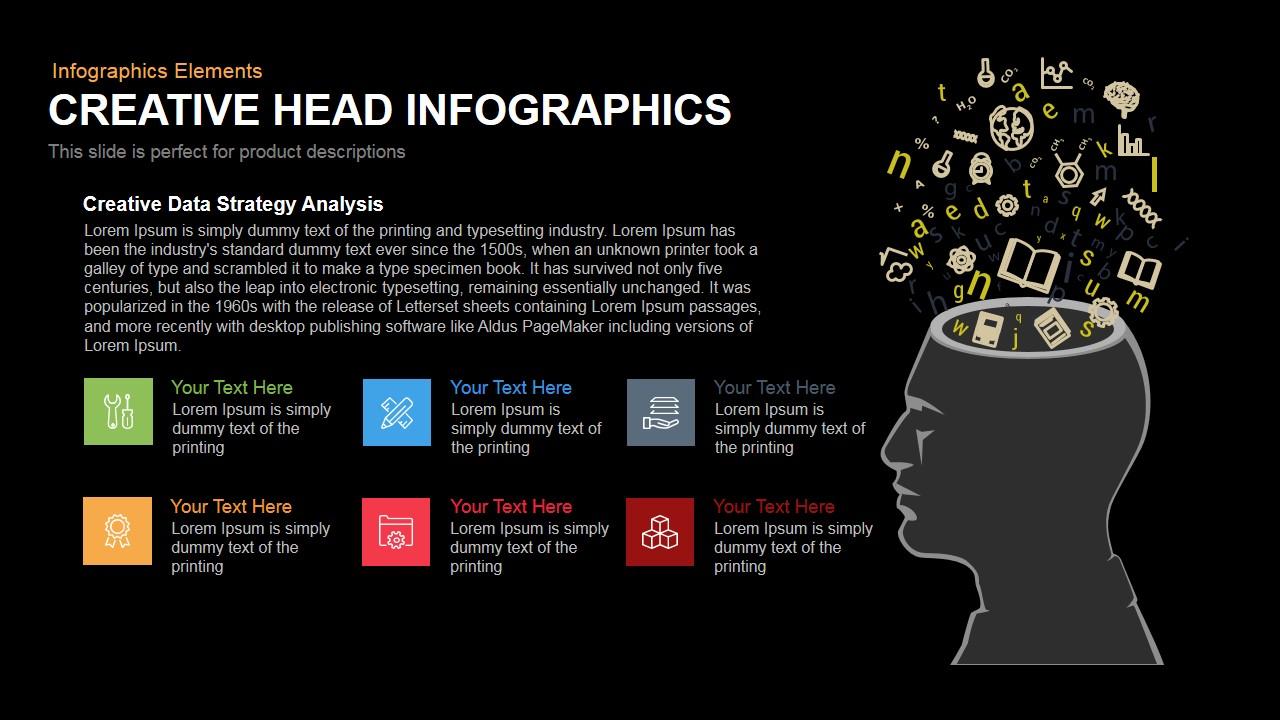Creative Head Infographics Powerpoint Keynote template