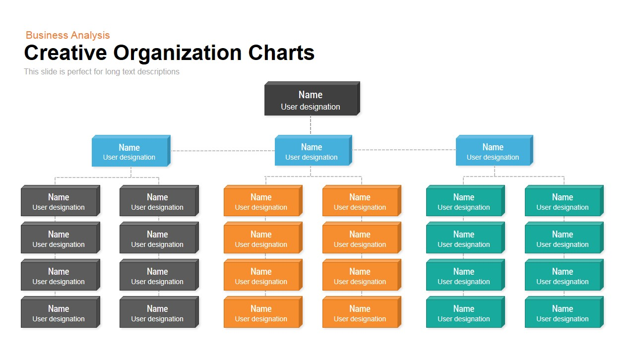 Creative organization chart template for powerpoint and keynote slide toneelgroepblik