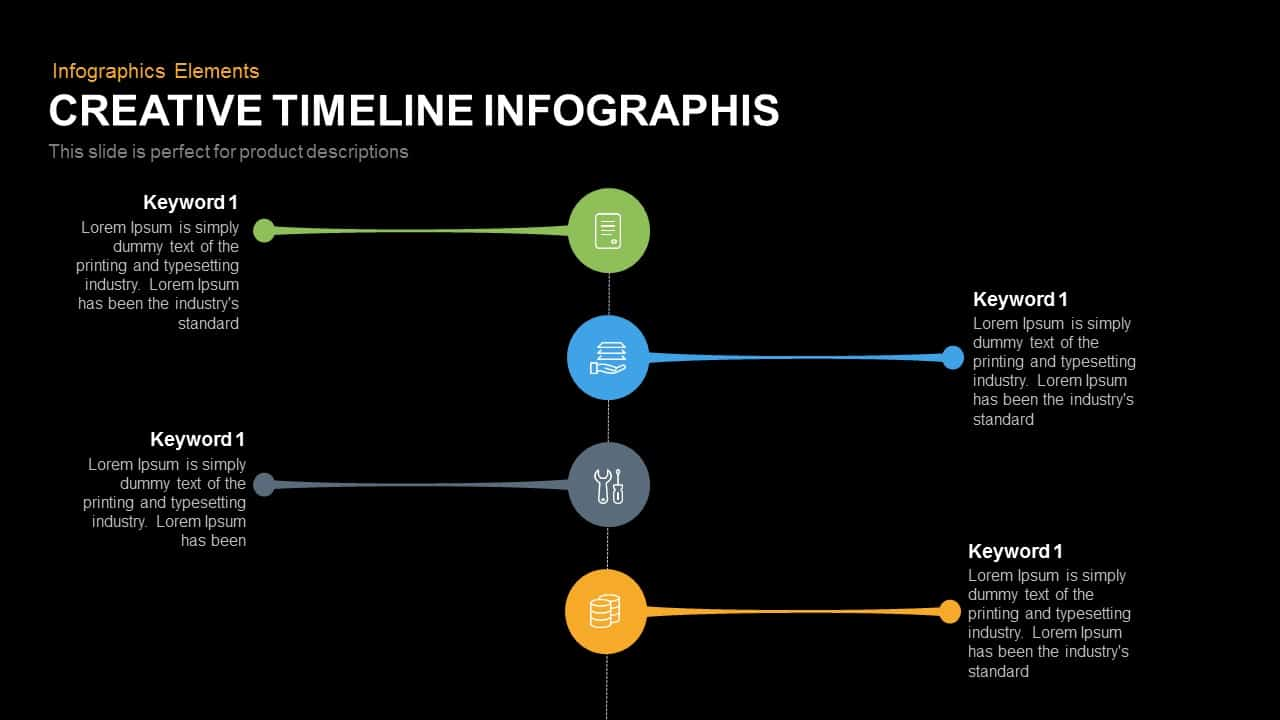 Creative Timeline Infographic Powerpoint Keynote Template
