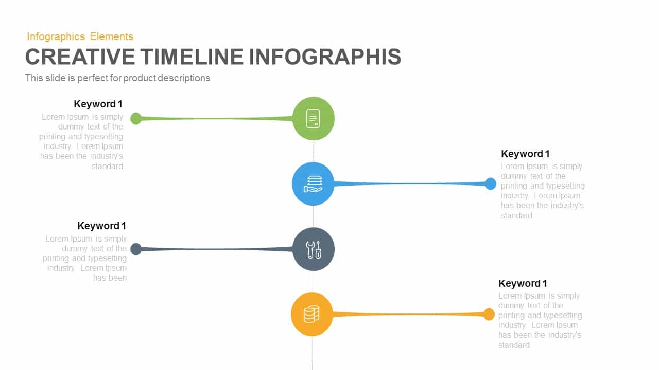 Creative Timeline Infographic PowerPoint Template and Keynote Slide