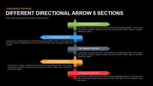 Different Directional Arrows Template for PowerPoint and Keynote
