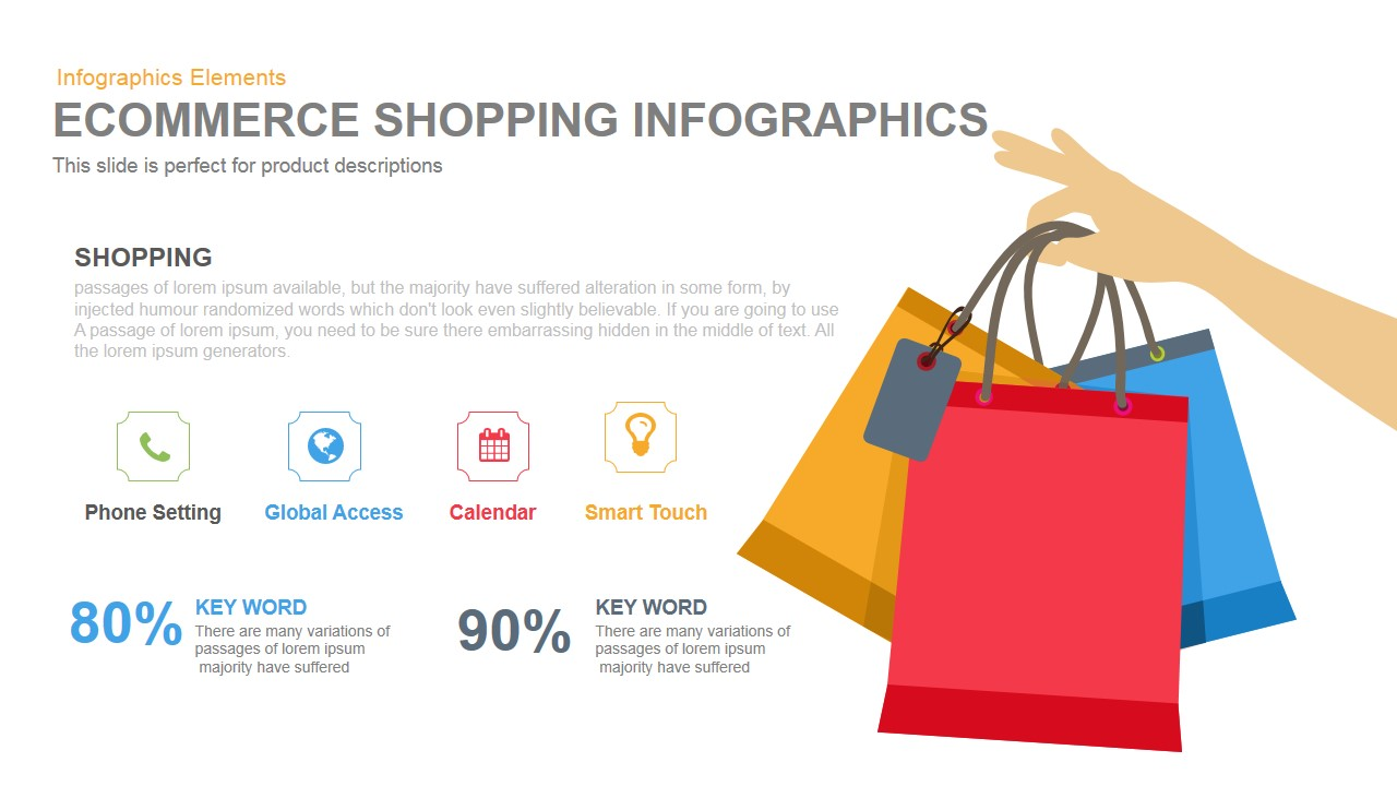 E-commerce Shopping PowerPoint Template and Keynote